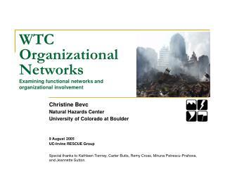 WTC Organizational Networks