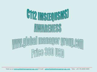 C112 IMS(EQHSMS) AWARENESS global manager group Price 360 USD