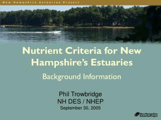 Nutrient Criteria for New Hampshire's Estuaries