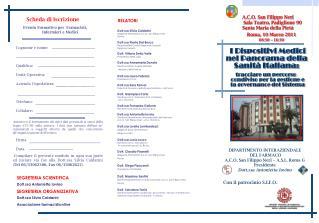 Roma, 10 Marzo 2011 08:30   16:30