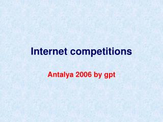 Internet competitions