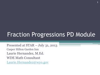 Fraction Progressions PD Module