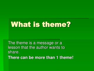 What is theme?
