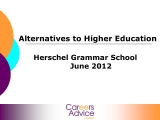 Alternatives to Higher Education