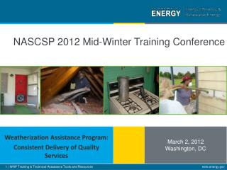 NASCSP 2012 Mid-Winter Training Conference