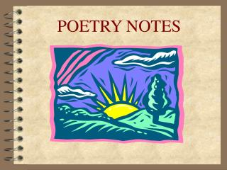 POETRY NOTES