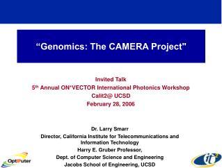 Genomics: The CAMERA Project