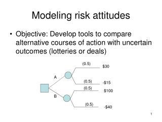 Modeling risk attitudes