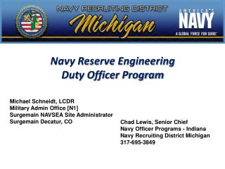 Navy Reserve Engineering Duty Officer Program