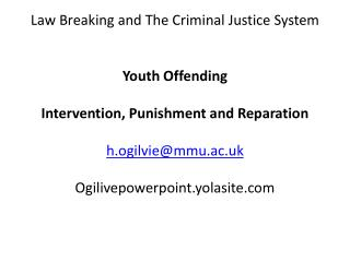 Law Breaking and The Criminal Justice System Youth Offending