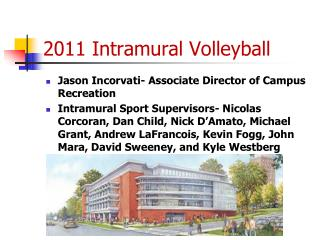 2011 Intramural Volleyball