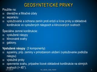 GEOSYNTETICK  PRVKY