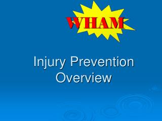 Injury Prevention Overview