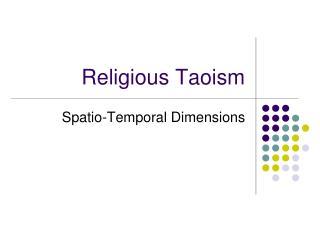 Religious Taoism