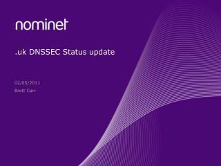 .uk DNSSEC Status update