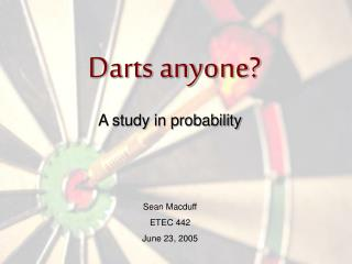 Darts anyone?