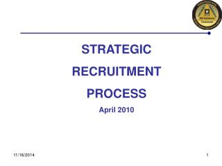STRATEGIC  RECRUITMENT  PROCESS April 2010