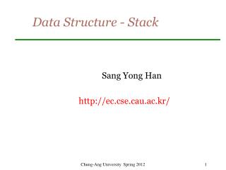 Data Structure - Stack