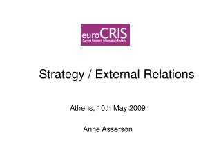 Strategy / External Relations