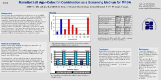 Mannitol Salt Agar-Cefoxitin Combination as a Screening Medium for MRSA