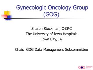 Gynecologic Oncology Group (GOG)