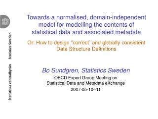 Bo Sundgren, Statistics Sweden