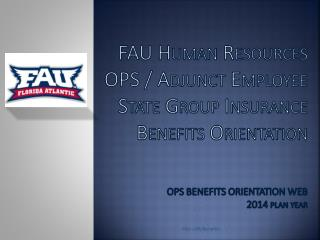 FAU –HR/Benefits