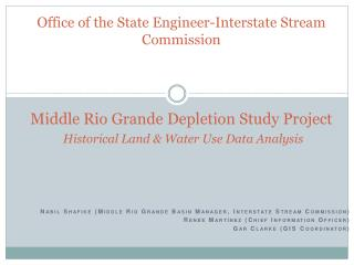 Nabil Shafike (Middle Rio Grande Basin Manager, Interstate Stream Commission)