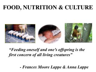 FOOD, NUTRITION & CULTURE