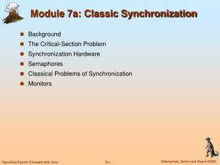 Module 7a: Classic Synchronization
