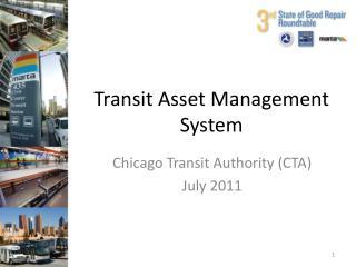 Transit Asset Management System