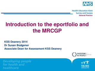 Introduction to the eportfolio and the MRCGP