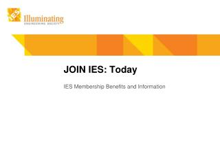 JOIN IES: Today