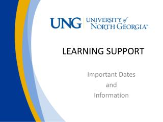 LEARNING SUPPORT