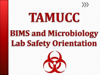 TAMUCC        BIMS and Microbiology Lab Safety Orientation