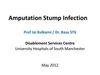 Amputation Stump Infection