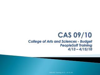 CAS 09/10