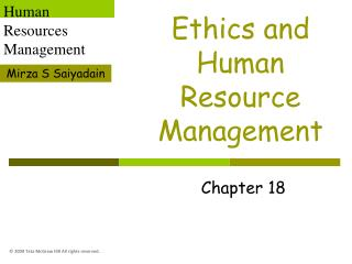 Ethics and Human Resource Management