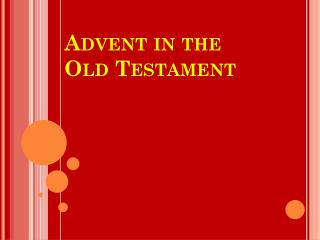 Advent in the Old Testament