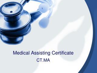 Medical Assisting Certificate