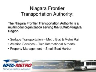Niagara Frontier  Transportation Authority: