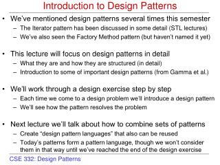 Introduction to Design Patterns