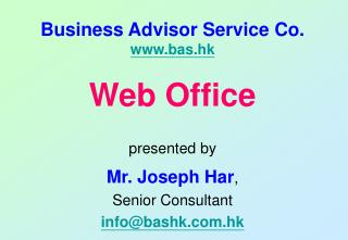 Business Advisor Service Co. bas.hk
