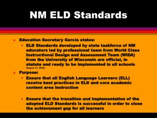NM ELD Standards