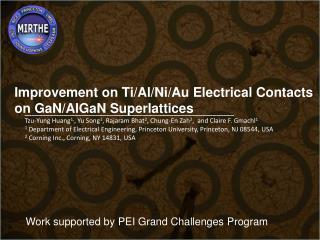 Improvement on Ti/Al/Ni/Au Electrical Contacts  on GaN/AlGaN Superlattices