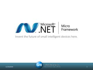 Invent the future of small intelligent devices here.
