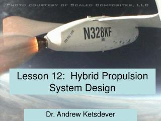 Lesson 12:  Hybrid Propulsion System Design