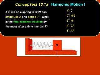 ConcepTest 13.1a Harmonic Motion I