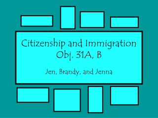 Citizenship and Immigration Obj. 31A, B