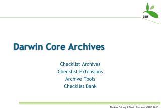 Darwin Core Archives